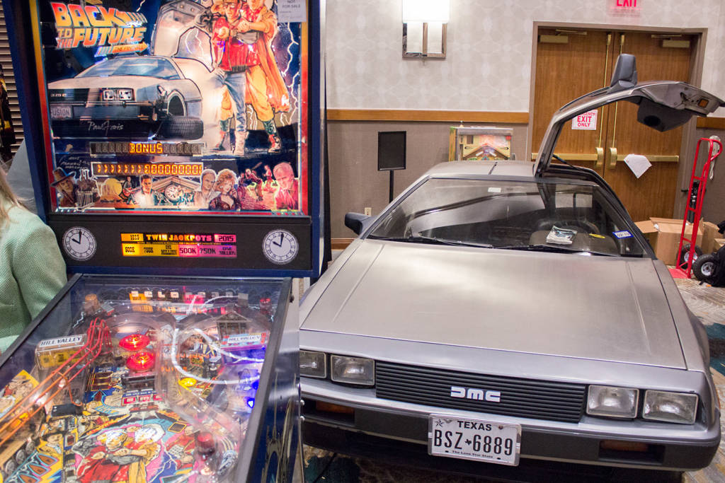 Key Arcades had their DeLorean with a Back to the Future pinball as part of their display