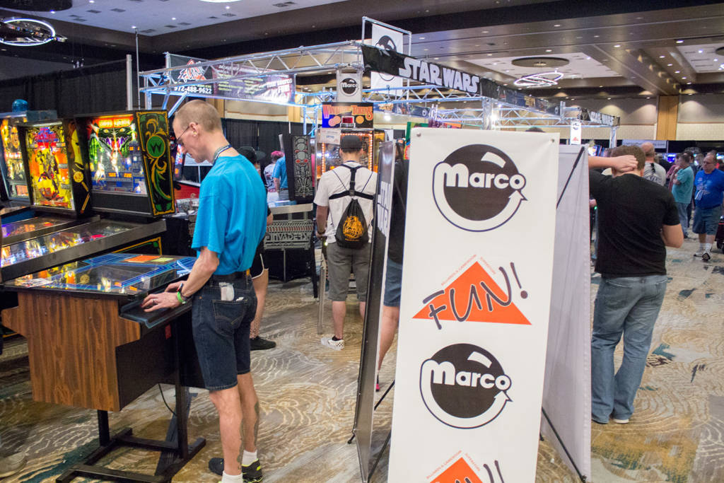 Marco Specialties and Fun joined together to create a large display of brand new and restored games