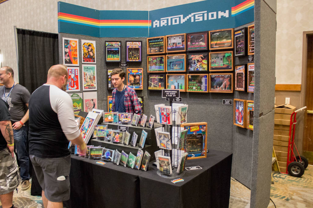 Artovision had plenty of video game images in frames and in postcard form
