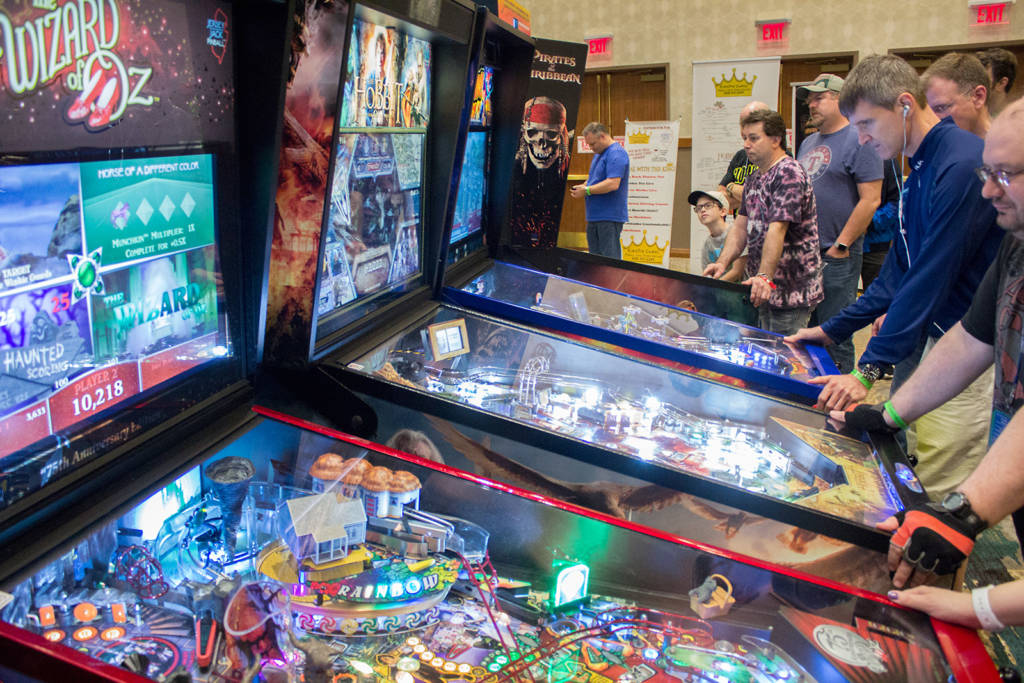 Jersey Jack Pinball with their distributor Kingpin Games had a nice selection of their titles for visitors to play