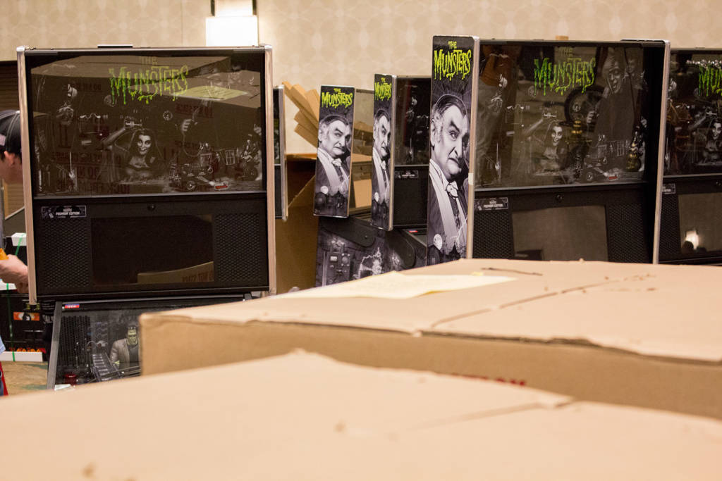 Lots of The Munsters machines