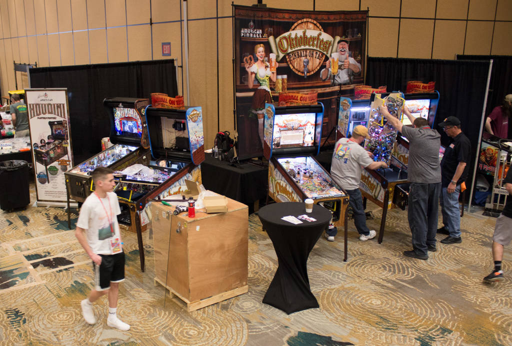 American Pinball were getting their games ready