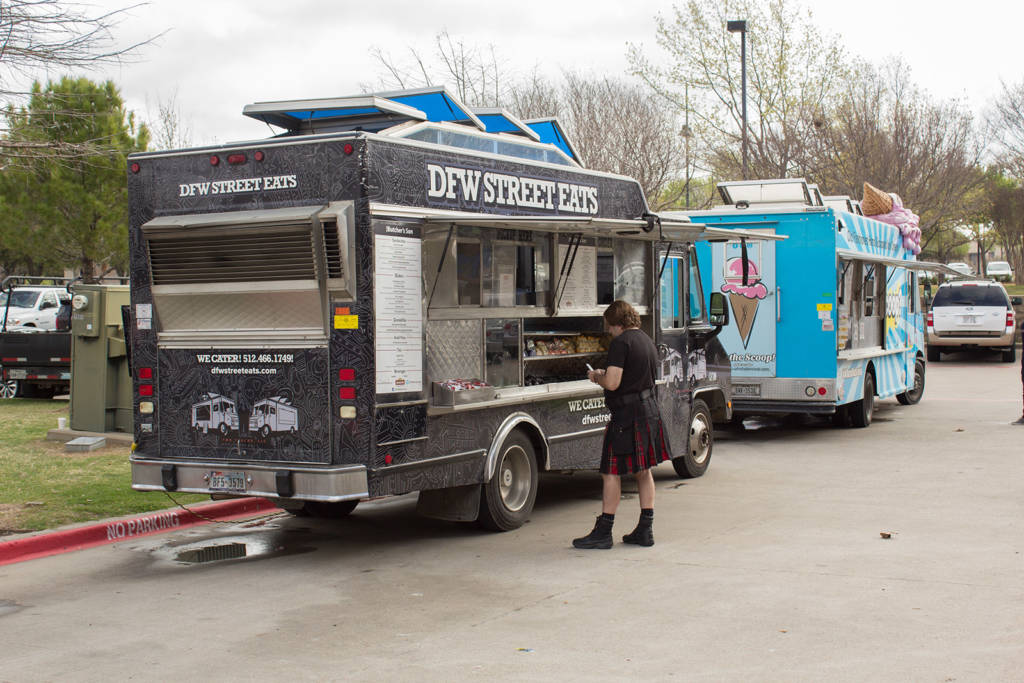 Food trucks were outside the venue for all three days