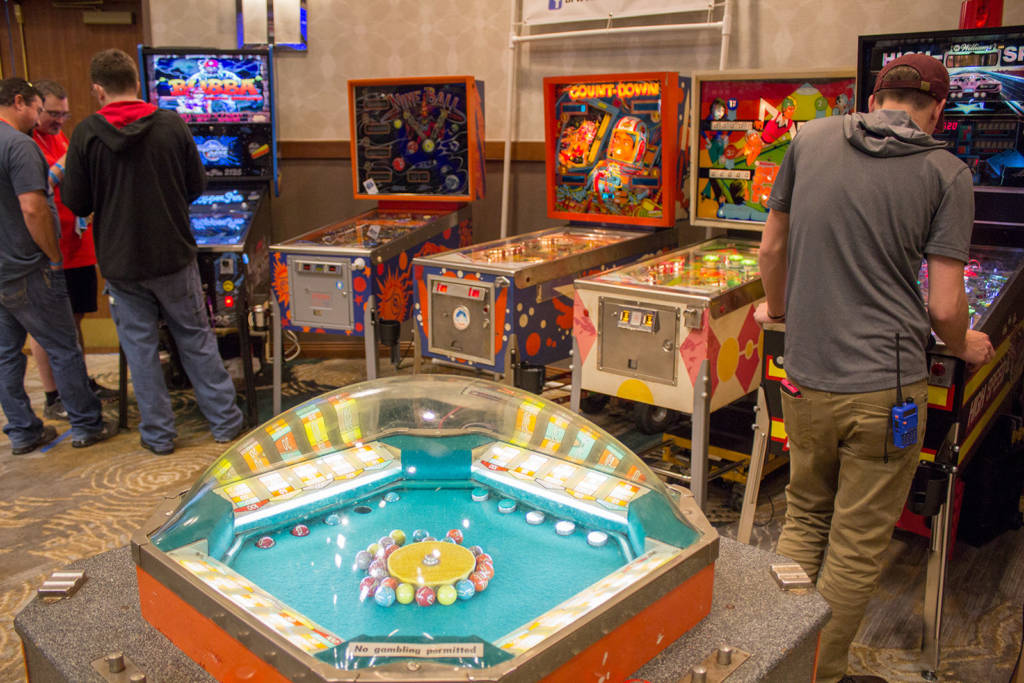 Machines from the DFW Pinball & Arcade Club