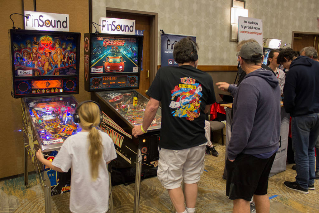 PinSound had their own stand but also had other games around the hall demonstrating their sound system