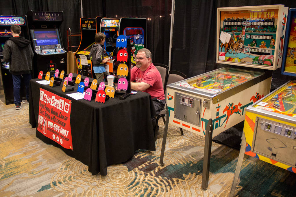 Retrocade were promoting their machine sales, service and restorations
