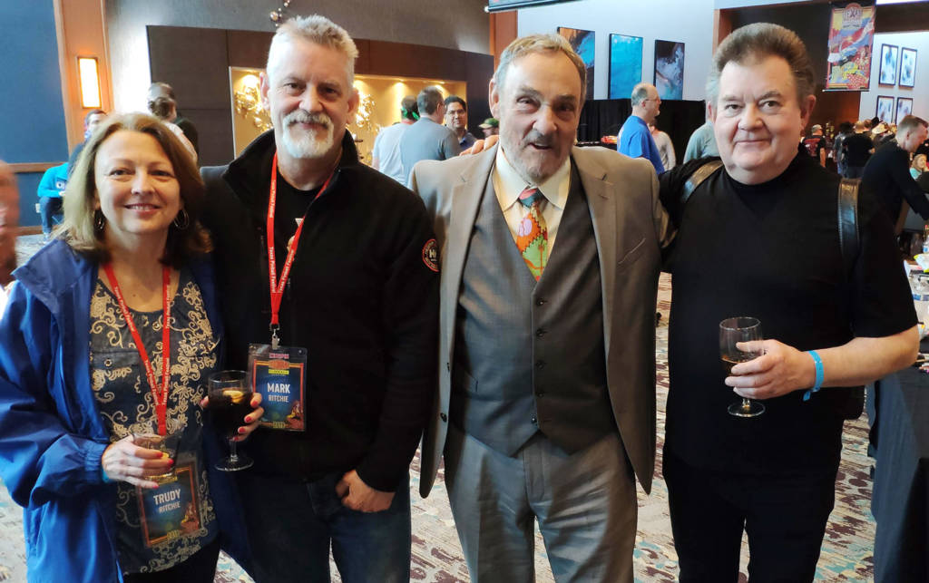 Trudy Ritchie, Mark Ritchie, John Rhys-Davies and Steve Ritchie