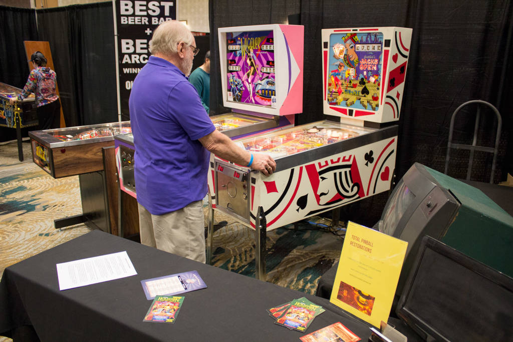 Total Pinball Restoration's games showed the quality of their work