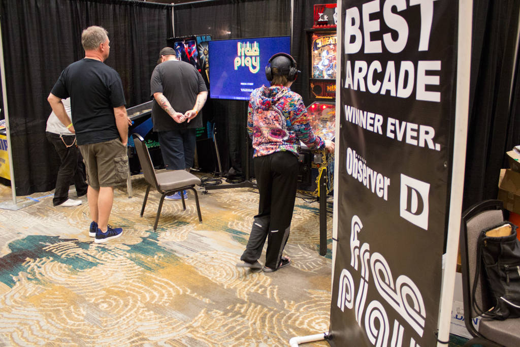 Free Play Arcade's stand