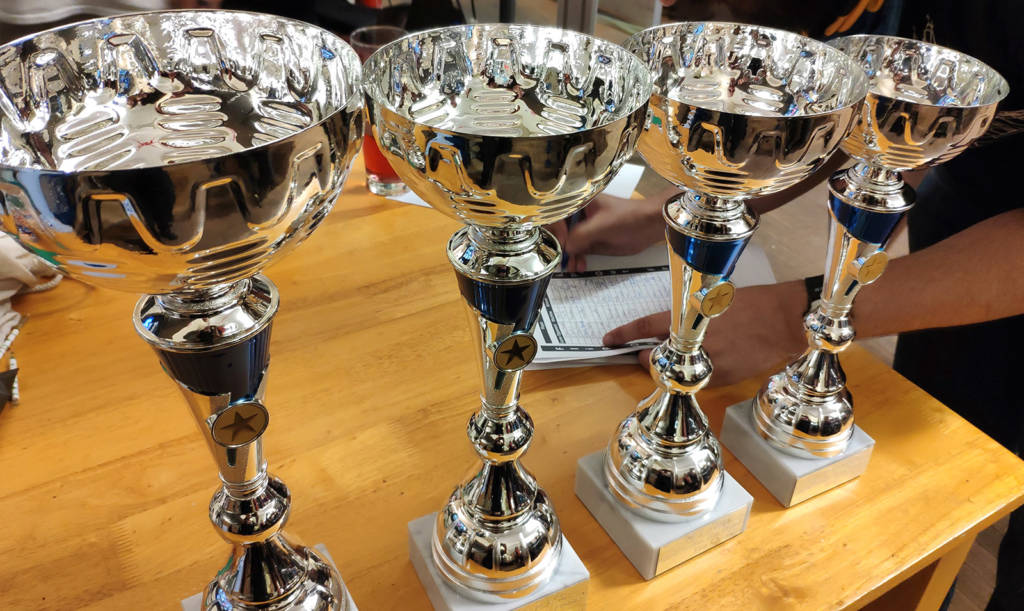 Trophies for Wednesday's Flip Frenzy