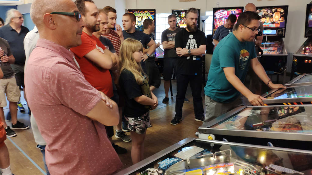 One of the later matches in the UK Pinball Open 2019