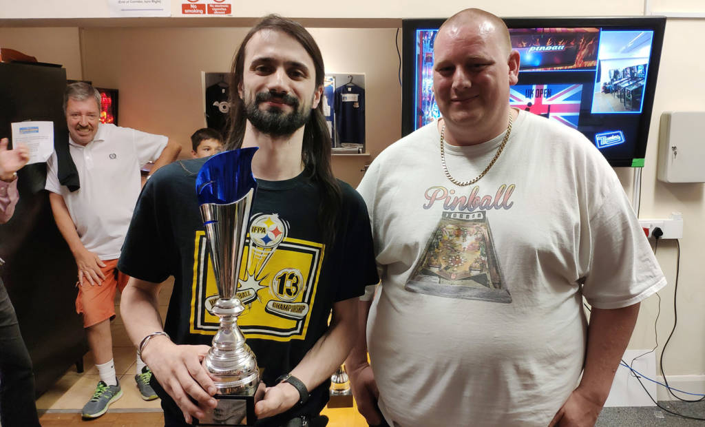 Winner of the UK Pinball Open 2019, Roberto Pedroni
