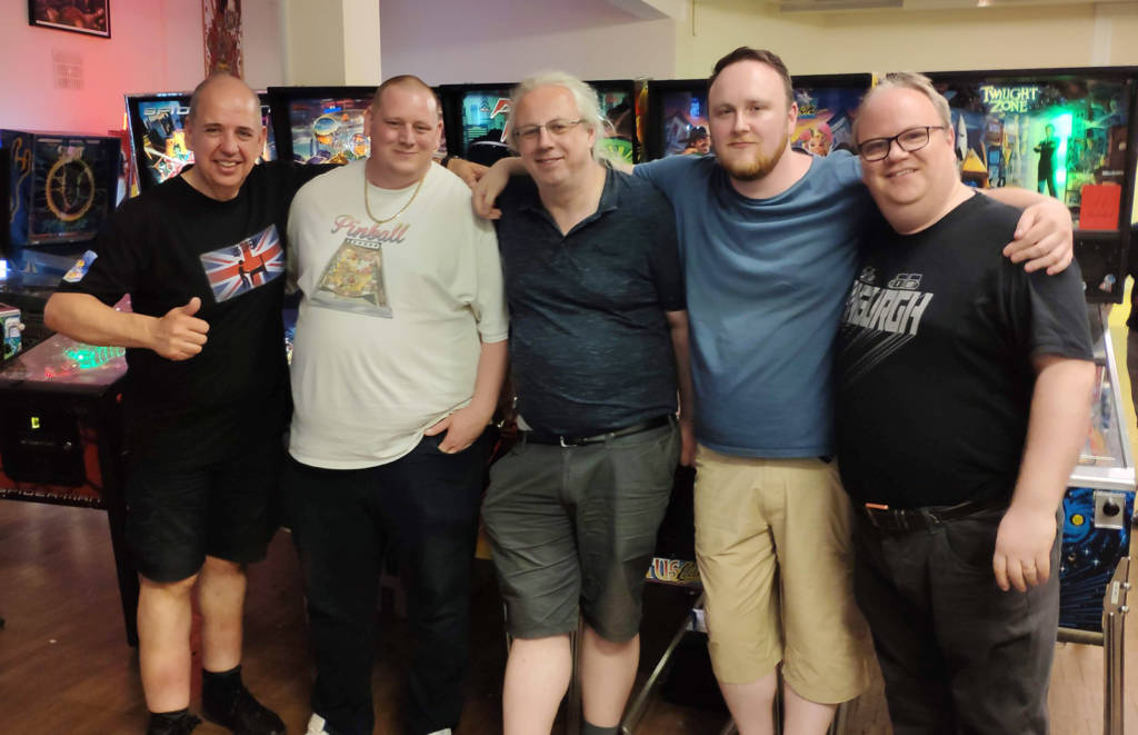 Five of the founding members: Martin Ayub, Matt Vince, Mike Parkins, Tim Thornton and Neil McRae