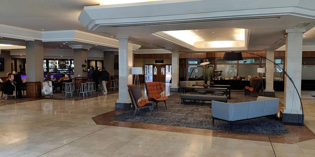 The hotel's lobby