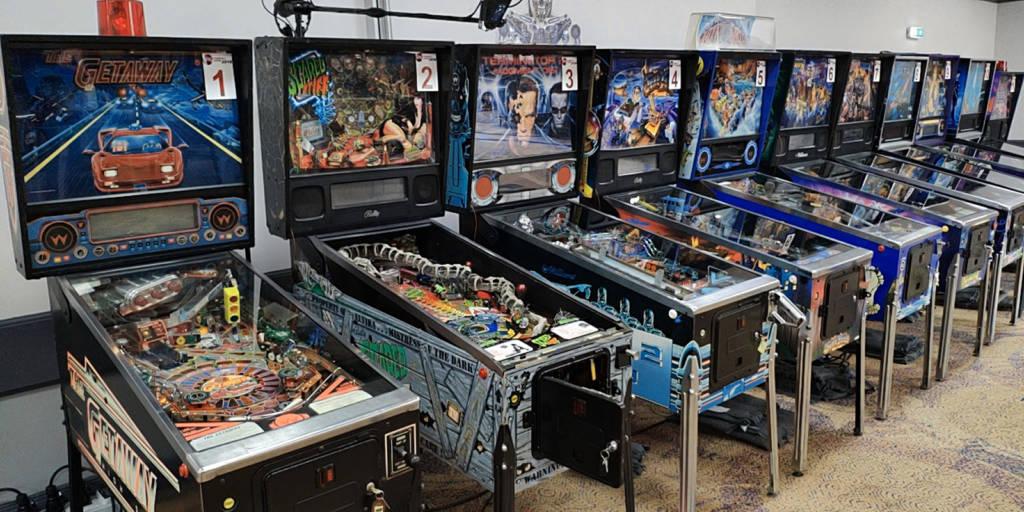 The UK Pinball Open machines