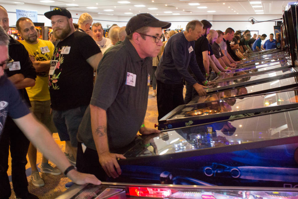 Playing in the UK Pinball Open