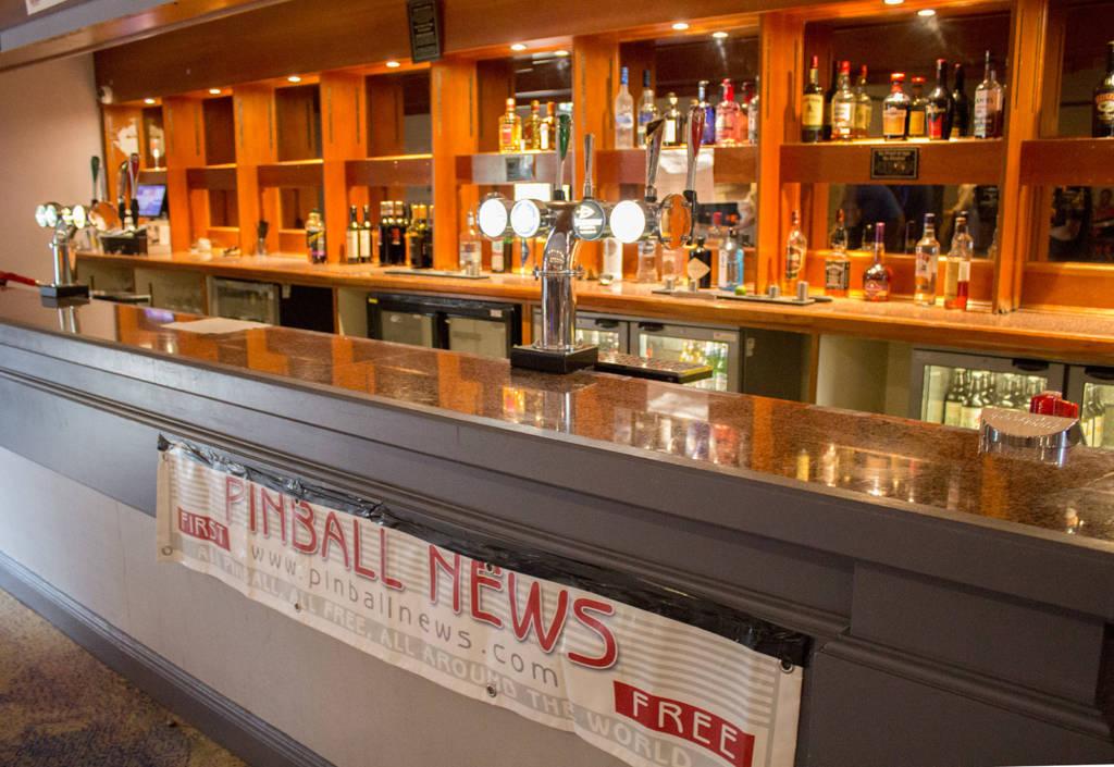 The main hall's bar