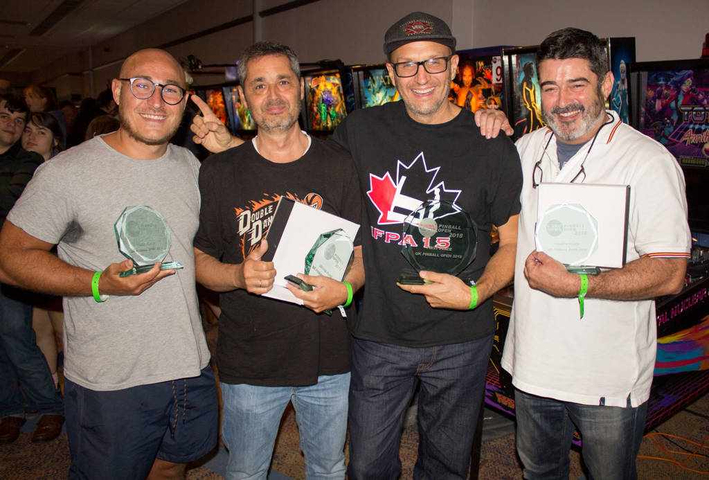 The top four in the UK Pinball Open 2018