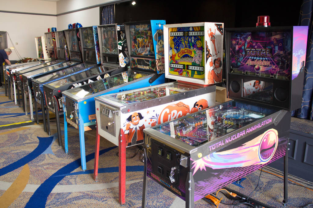 There is a tournament being held at the show, and these are the machines which will be used