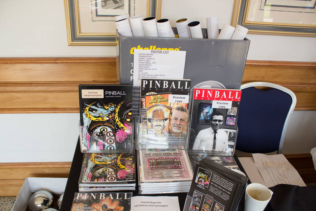 Along with show entry, magazines, books and posters were available to purchase