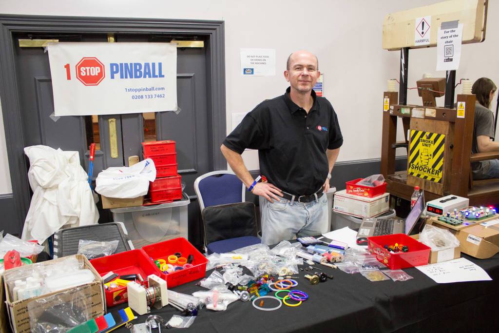 The 1 Stop Pinball stand