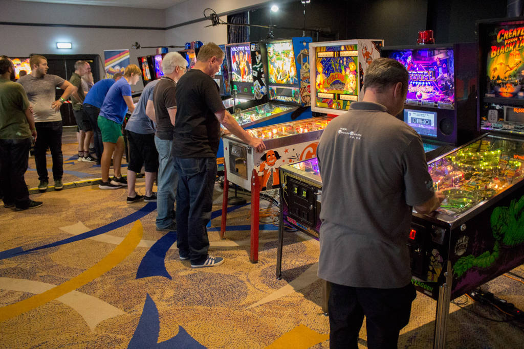 The main tournament machines were kept busy all day