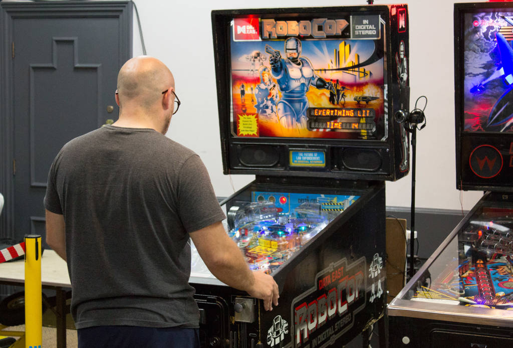 Craig playing the first game of three in the final - RoboCop