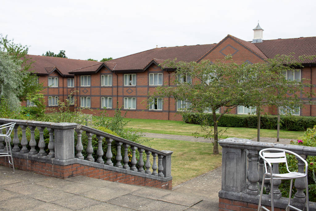 The courtyard at the Mercure Daventry Court