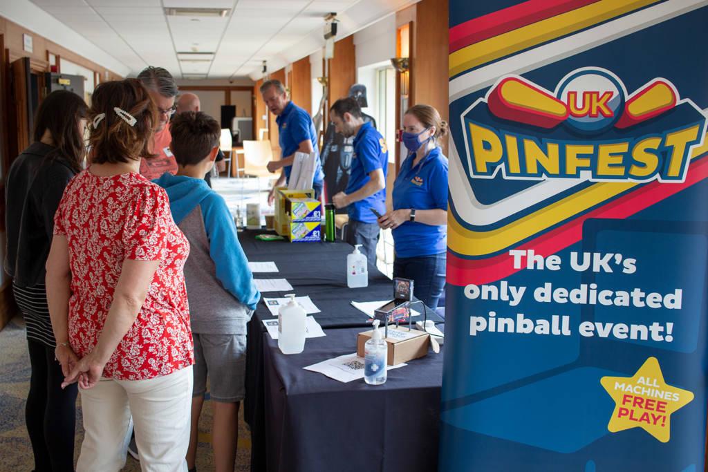 The UK Pinfest registration desk