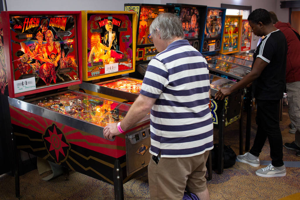 A row of machines from London Pinball