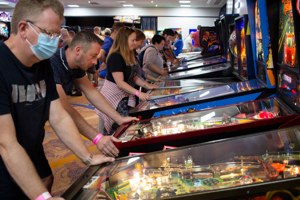 Players enjoying the selection of machines