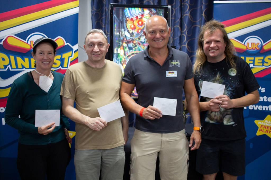 The 5th to 8th placed players: Louise Wagensonner, Peter Blakemore, Ian Wallace and Andrew Foster