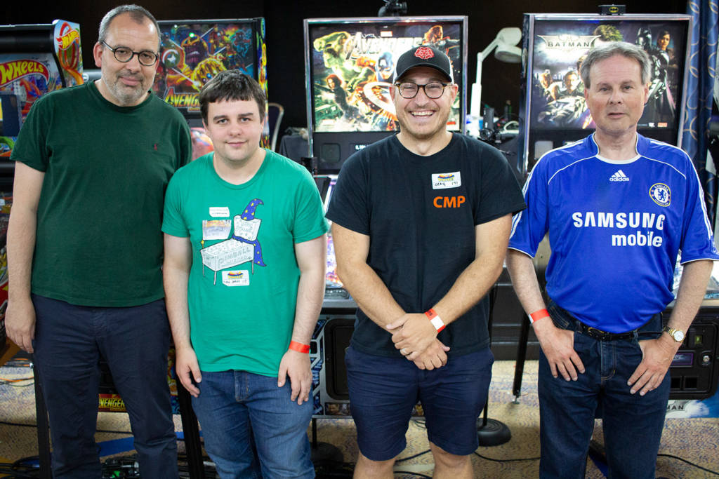 The four finalists: Andreas Bernard, William Dutton, Craig Pullen and Paul Owen