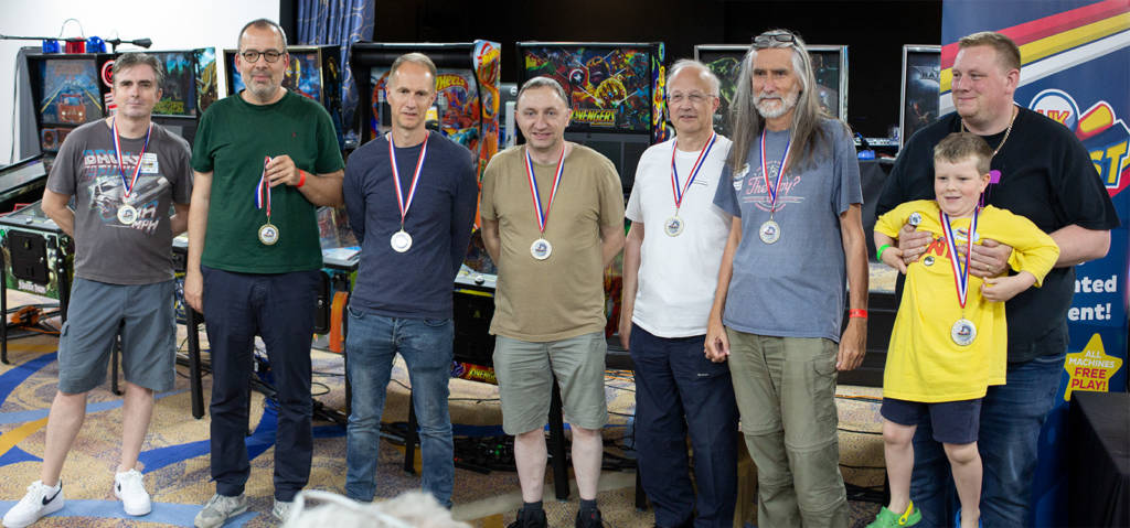 Classic Tournament qualifiers with their medals