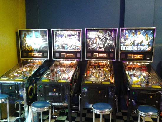 New Stern pinballs at American Pool: Tron LE, Transformers Pro, Batman and The Rolling Stones