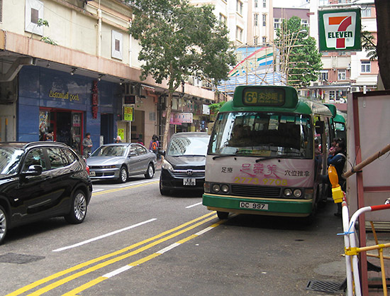The #6A minibus from MTR Jordan station to American Pool