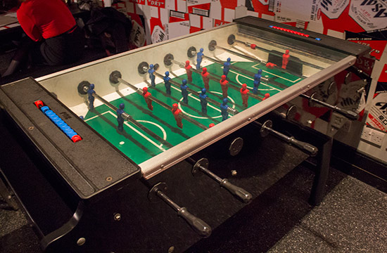 The table football machine