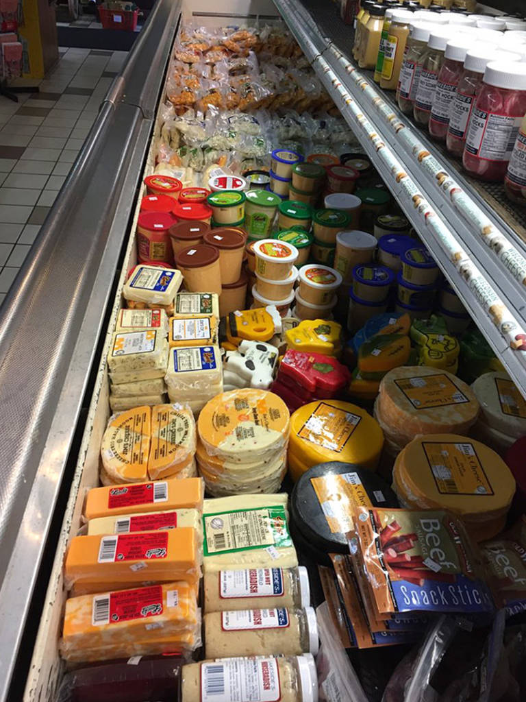 The wide selection of cheeses