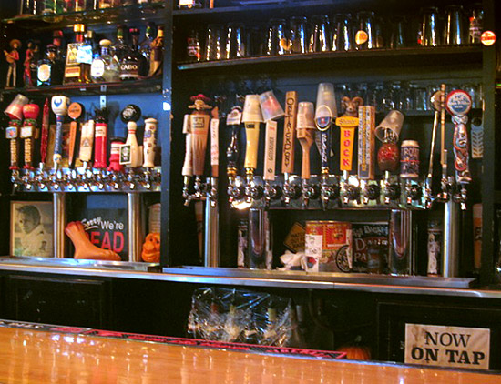 The many beers on tap