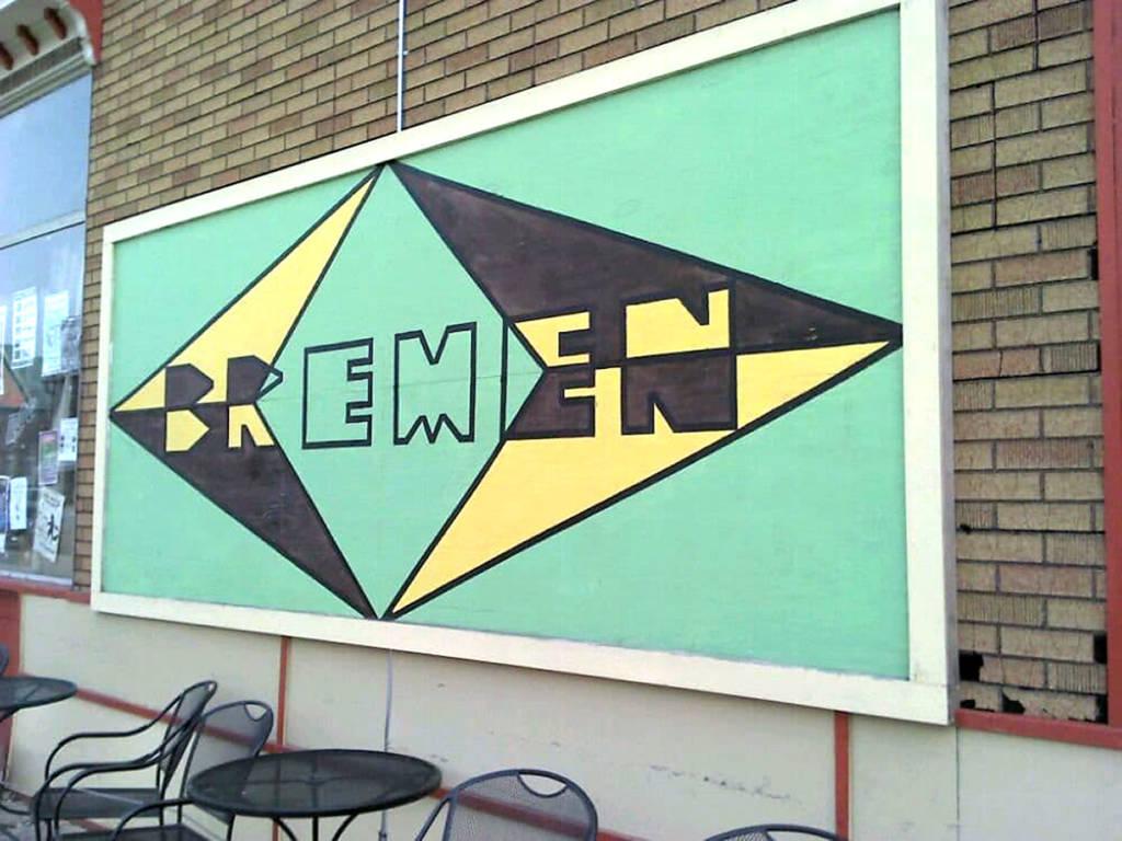 The Bremen Cafe sign