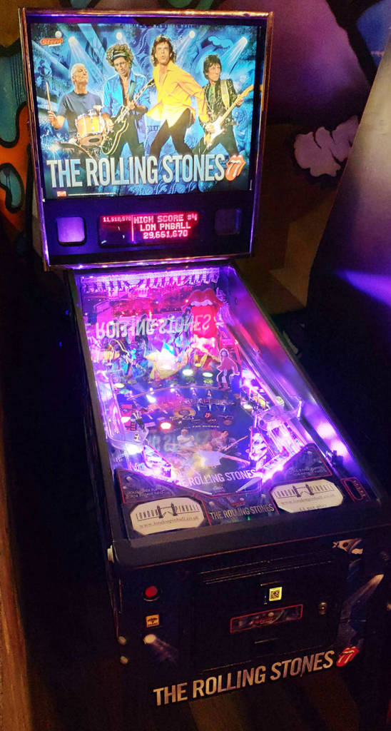 The Rolling Stones pinball at Brewdog Tower Hill