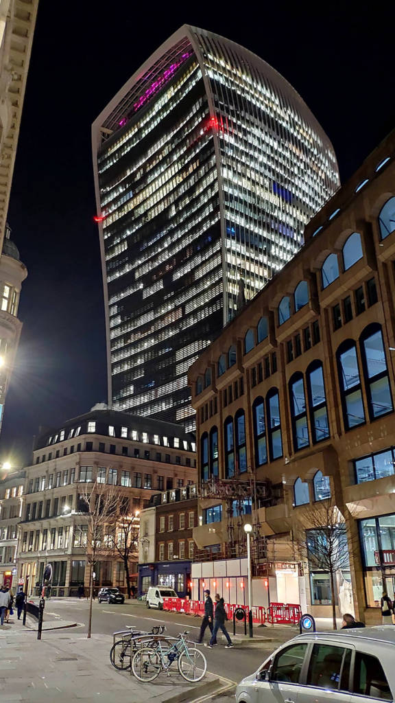 Brewdog Tower Hill is in the shadow of the skyscraper known locally as the 'Walkie-Talkie'