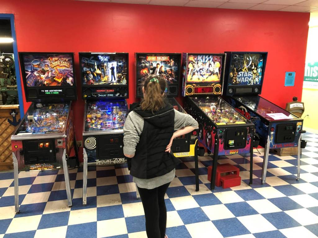 And yet another five more pinball games on the right side