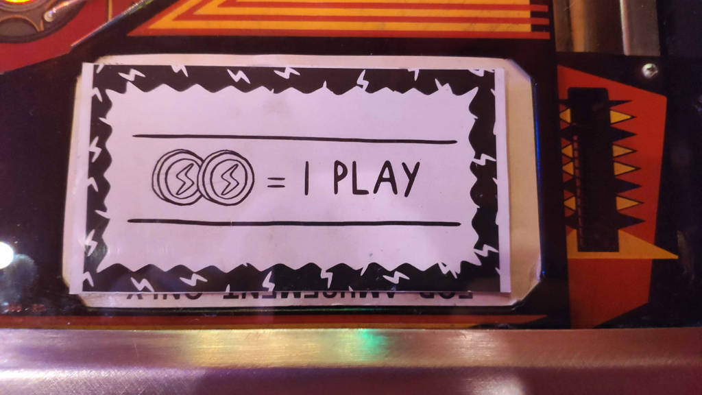 Two tokens (50c) to play most games