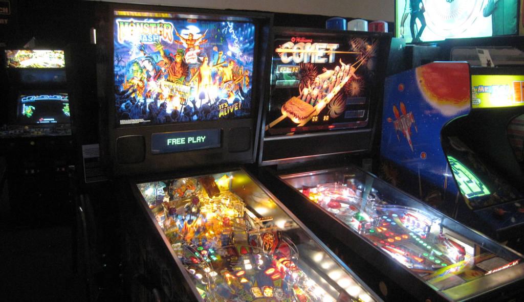 Two of the pinballs at Prince Arcade