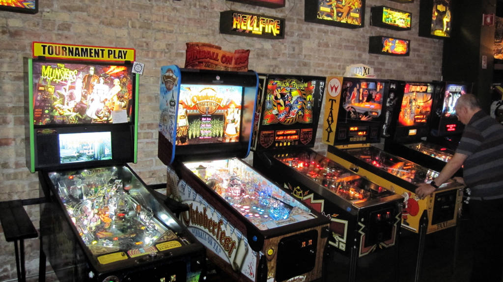 Some of the games at Logan Arcade