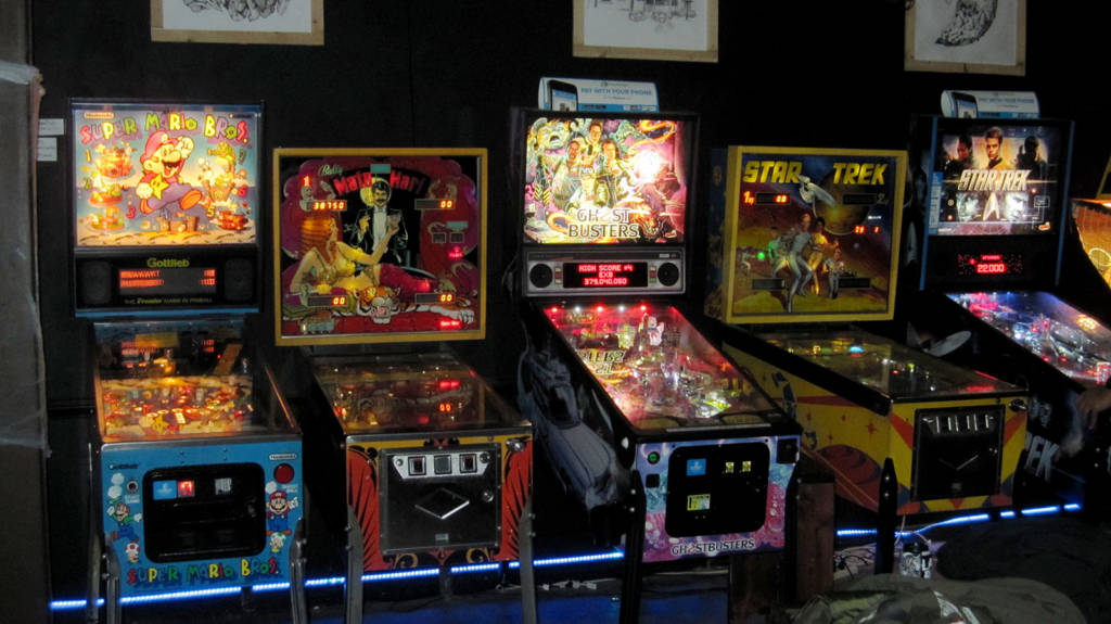 Games at the Uptown Arcade