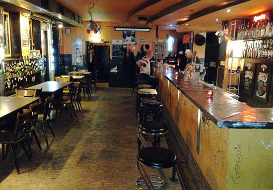 The bar at Flex