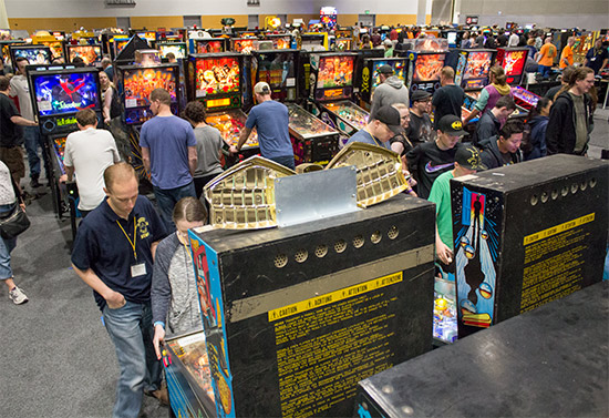The modern pinball area