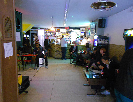 Inside the main bar area